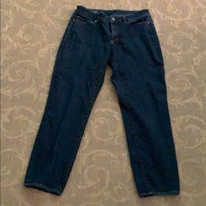 Ann Taylor curvy fit ankle jeans